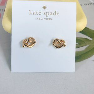 Kate Spade  Woven Heart Stud Earrings